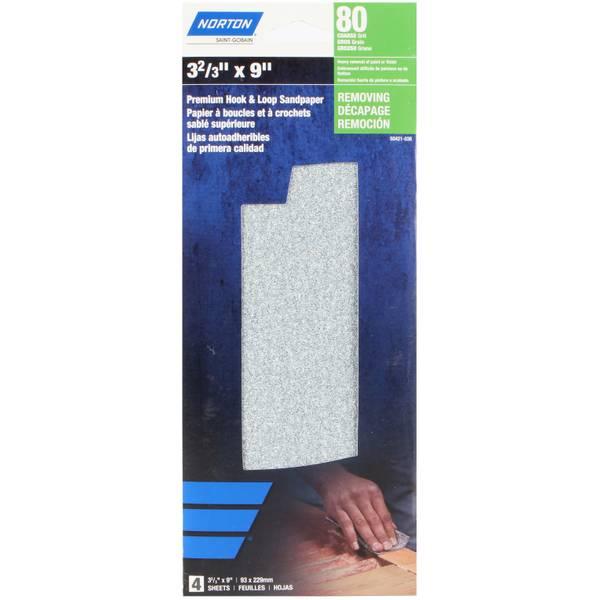 80 Grit 1/3 Orbital Sander Abrasive Sheets