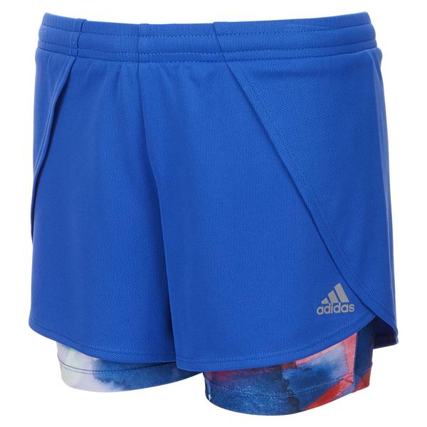 Girls' Royal Blue 2-in-1 Mesh Shorts