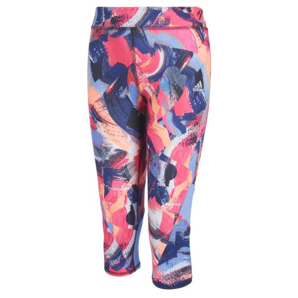 Girls Print Capri Tights