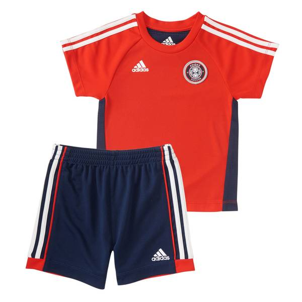 Boy's Red 2-Piece Hat Trick Shorts Set