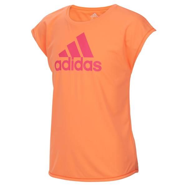 Girls' Orange Short Sleeve Graphic Tee Shirt