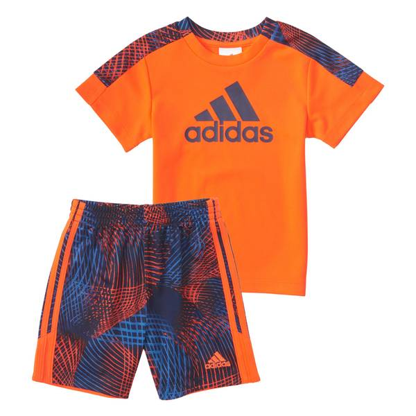 Toddler Boys' Red 2-Piece Net Shorts Set