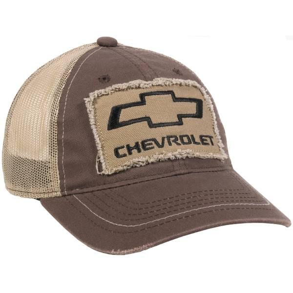 Men's Brown Chevy Patch Meshbk Cap
