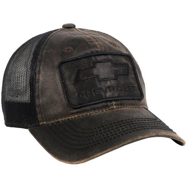 Men's Brown & Black Chevy Logo Meshback Cap