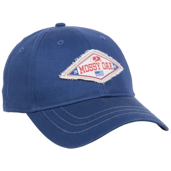 Men's Navy Mossy Oak Logo Unstructured Cap