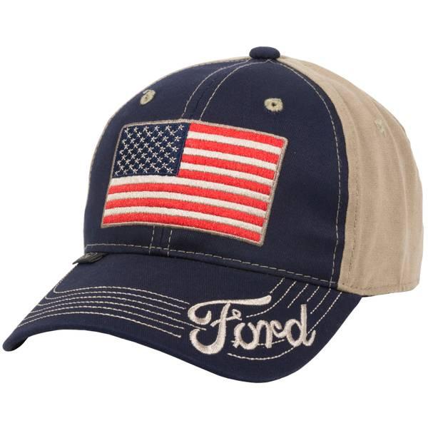 Men's Navy & Khaki Ford Americana Logo Cap