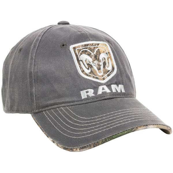 Men's Dark Grey Ram Logo Unstructured Cap