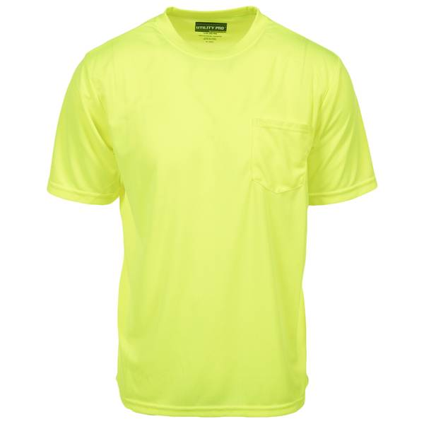 Men's Yellow Class 2 Hi-Vis Short Sleeve Perimeter Pocket Tee Shirt