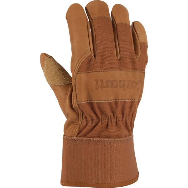 Men's Brown Grain Leather Work Gloves