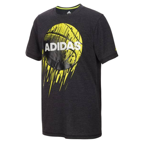 Boy's Black Short Sleeve Rocket Ball Tee Shirt