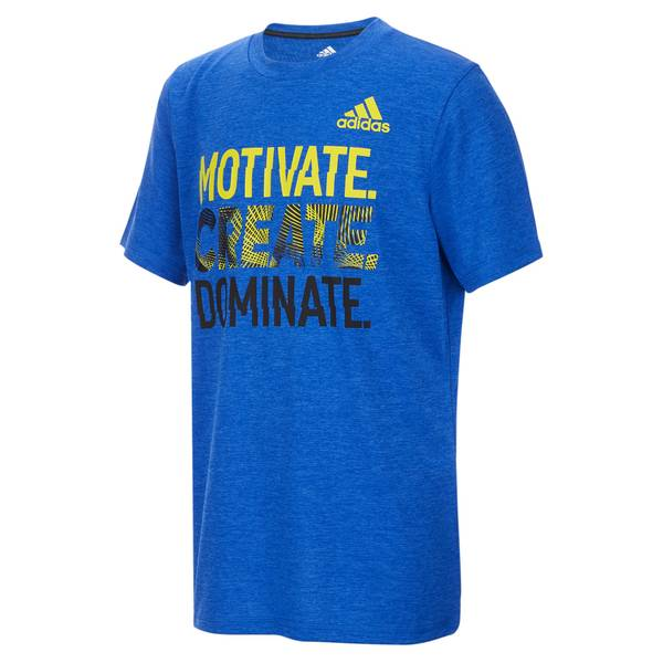 Boys' Royal Blue Short Sleeve Motivate Tee Shirt