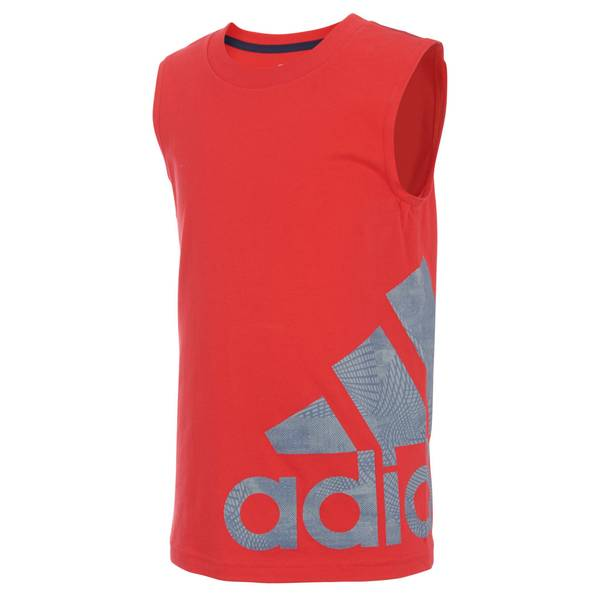 Little Boys' Red Sleeveless Speed Logo Tank Top