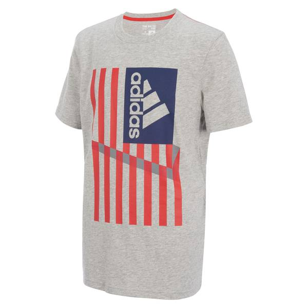 Boys' Grey Short Sleeve USA Tee Shirt