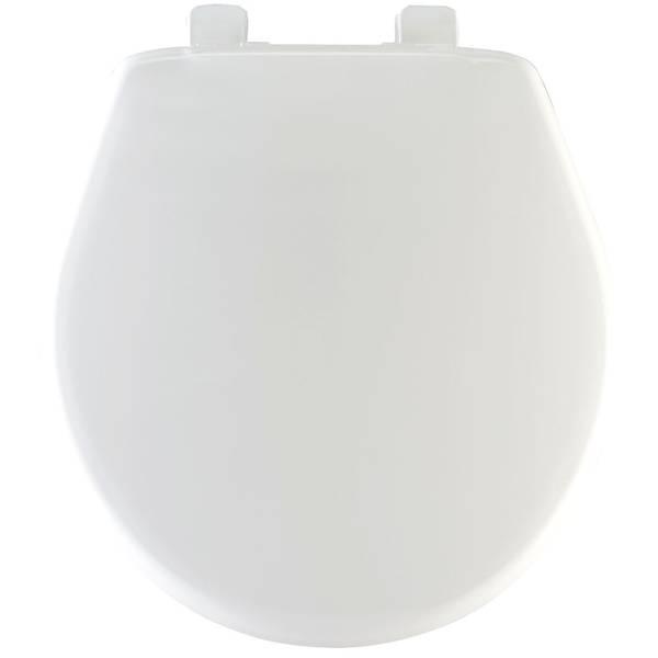 White Round Plastic Whisper Close Toilet Seat