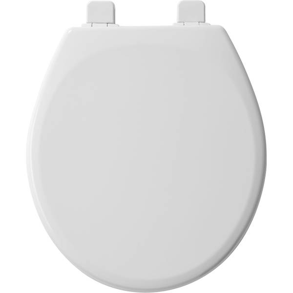 White Round Wood Whisper Close Toilet Seat