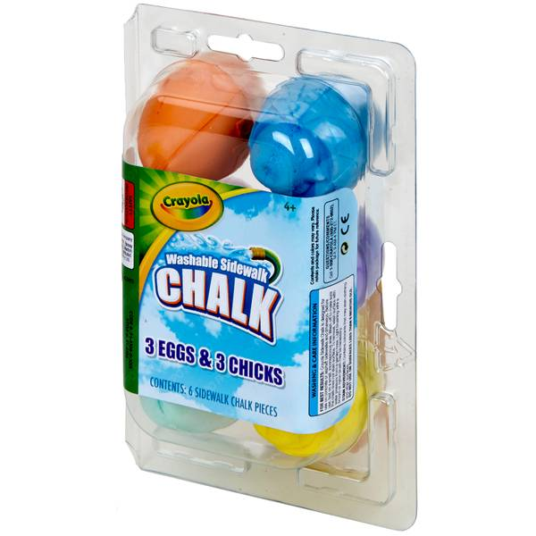 Egg & Chick Sidewalk Chalk 6-Pack