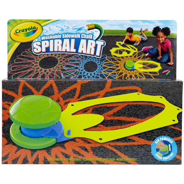 Crayola Outdoor Chalk Spiral Art Kit
