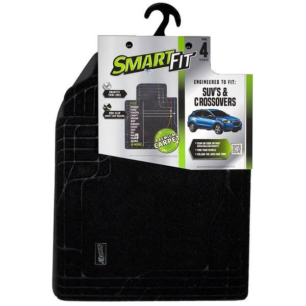 4-Piece Black Carpet SUV Floor Mat Set