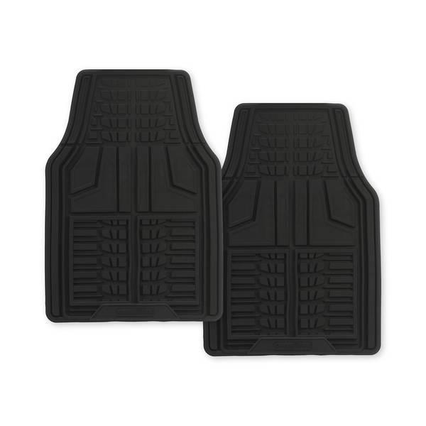 Black 2-Piece Premium Goodyear Front Mat Set