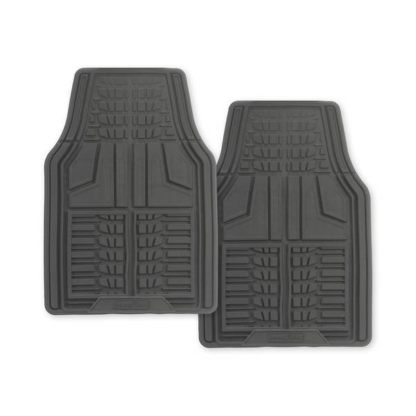 Grey 2-Piece Premium Goodyear Front Mat Set