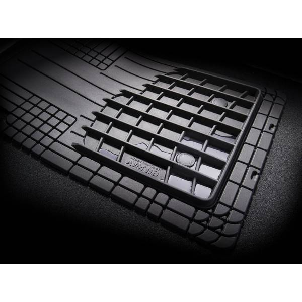 4-Piece Black Front and Rear Over The Hump All Vehicle Mat Set