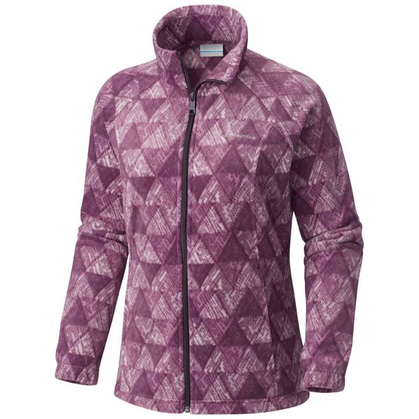 Misses Benton Springs Printed Full Zip Jacket