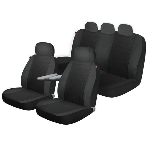 Dickies Black Arlington Front Rear 3 Piece Truck Seat Cover Kit