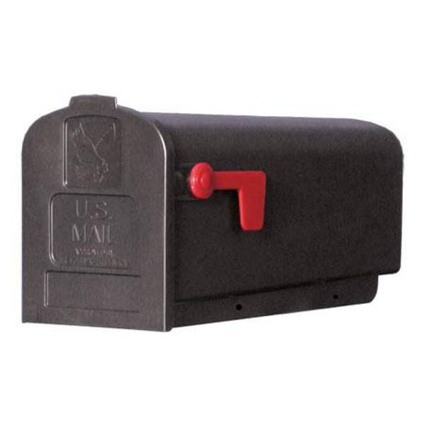 Economy Black Medium Plastic Mailbox