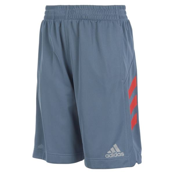 Boys' Grey & Red Sport Shorts