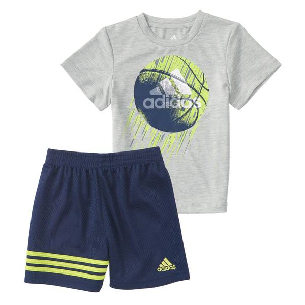 Boys' Grey 2-Piece Defender Shorts Set