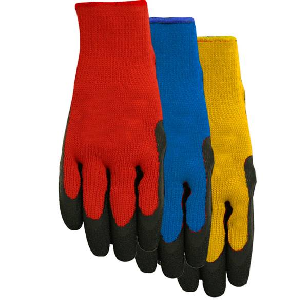 Men's Rubber Coated Gripping Gloves 2-Pack Assortment