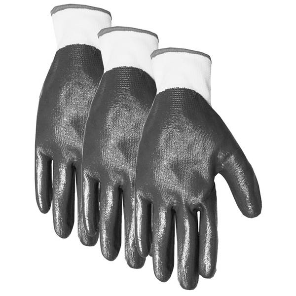 Men's Nitrile Dipped Knit Lining Gloves 3-Pack