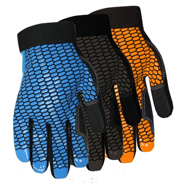Men's Synthetic Leather Palm Spandex Back Gloves Assortment