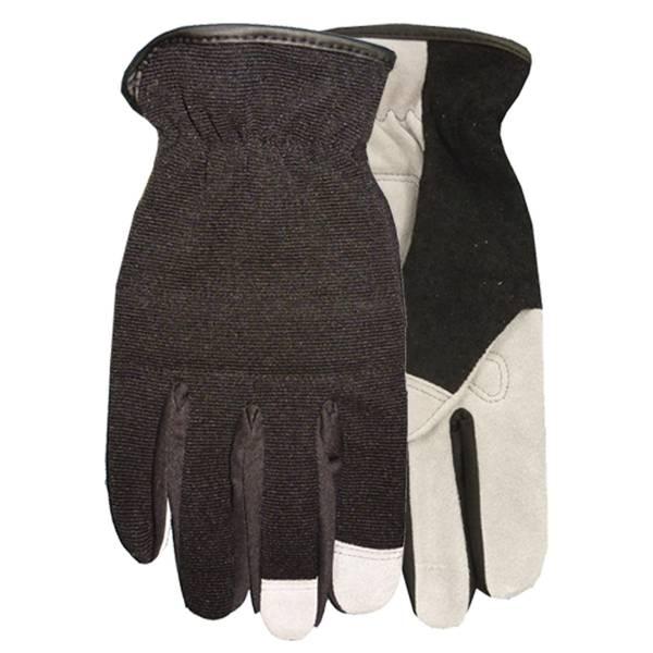 Men's Split Leather Spandex Back Gloves