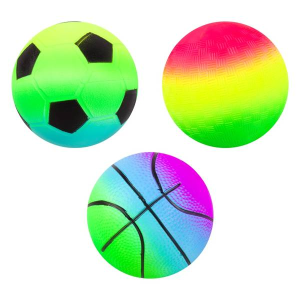 "4"" Neon Rainbow Sportz Ball Assortment"