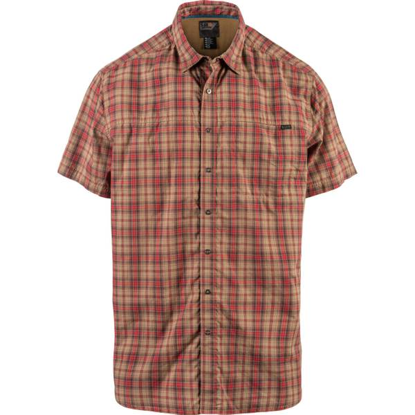 Men's Coyote Short Sleeve Hunter Plaid Shirt
