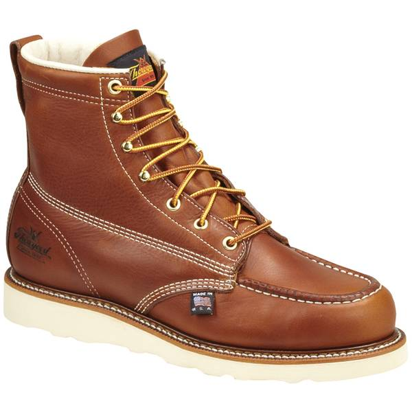 Men's Tobacco American Heritage Moc Toe Boots - Made in USA