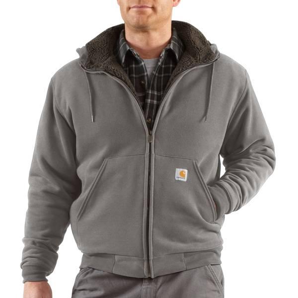 Men's Sherpa Lined Brushed Fleece Zip Front Sweatshirt
