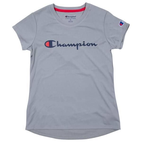 Boys' Oxford Heather Short Sleeve Script T-Shirt