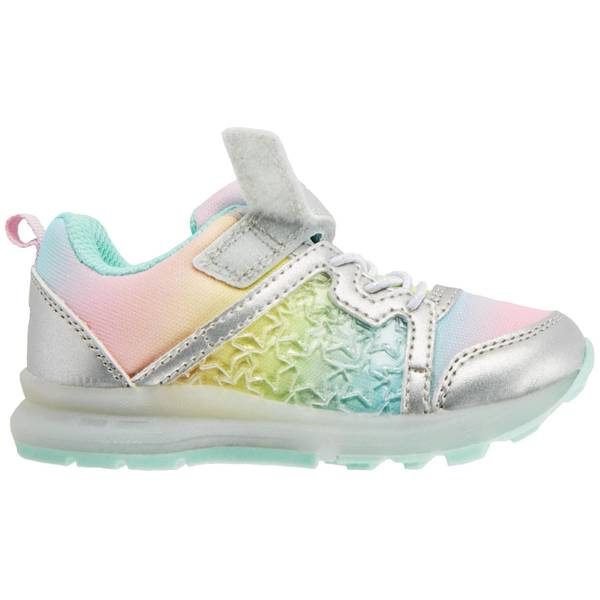 Girl's Multi-Colored Light-Up Sneakers