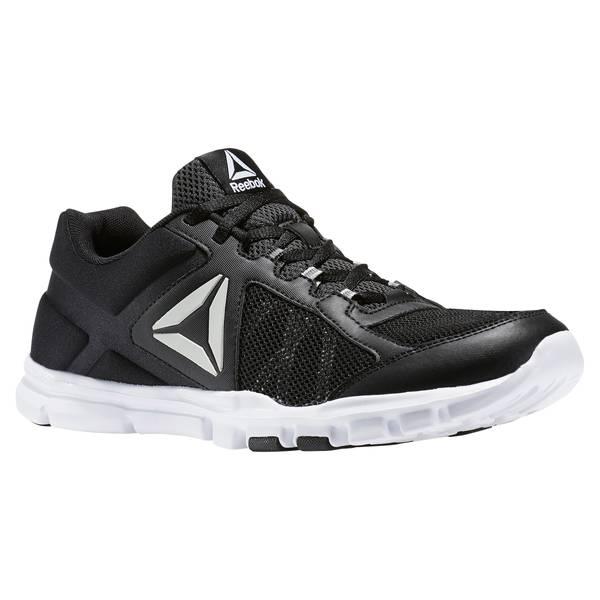 Men's Black & White & Skull Gray Yourflex Train 9.0 MT Shoes