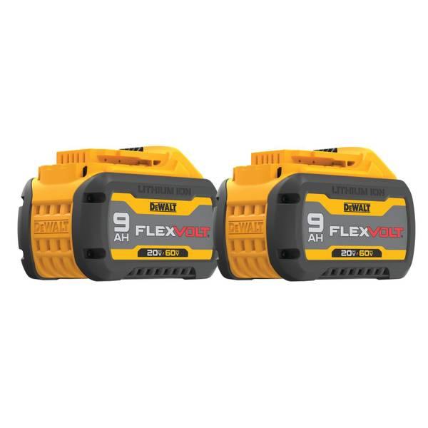 20V/60V MAX* FLEXVOLT Lithium Ion Battery Double Pack (9.0 AH)
