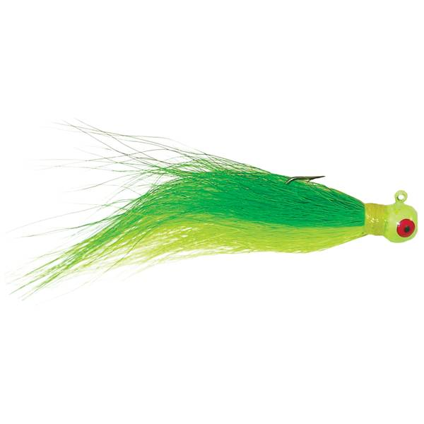 Glow Green Hook Bucktail Jig
