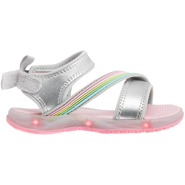 Girl's Silver Light-Up Sandals