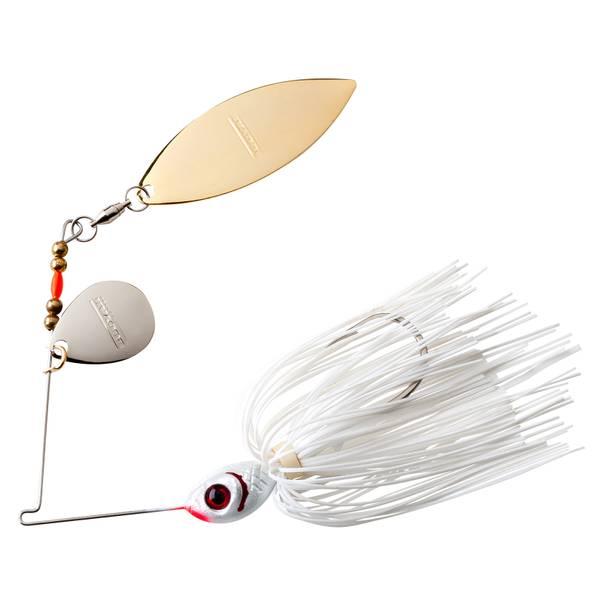 BOOYAH 3/8 oz Blade Pearl White & Snow White Fishing Lure
