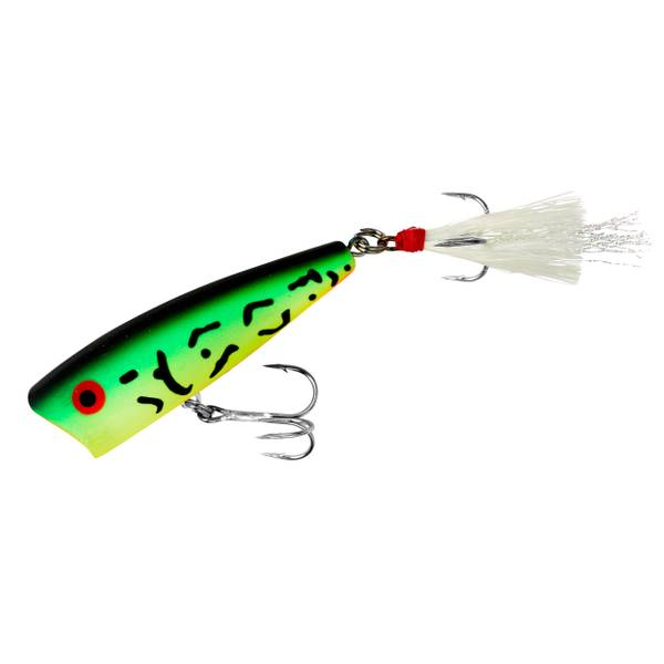 Rebel Pop-R Fire Tiger Fishing Lure