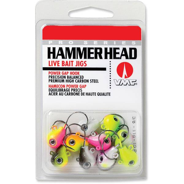 Hammer Head Jig UV Kit 3/8 oz Fishing Lure Assortment