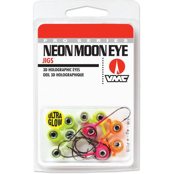 Neon Moon Eye Jig Glow Kit 1/8 oz Fishing Lure Assortment