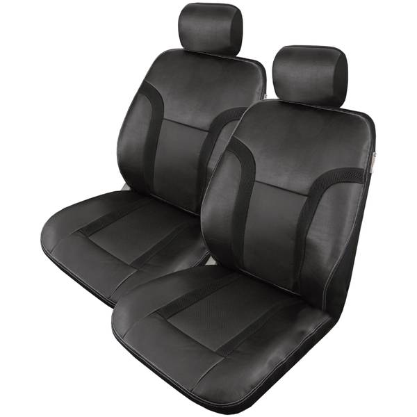 2-Piece Black Raptor Truck Seat Cover