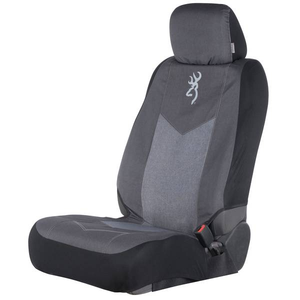 Browning Chevron Heather Black Low Back Seat Cover
